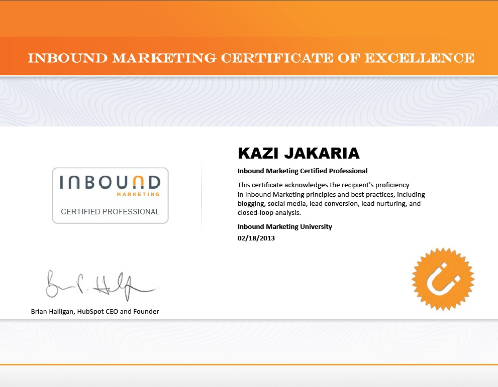 IMU Certification